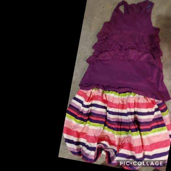 New xl tiered laced ruffled top Balloon skirt14